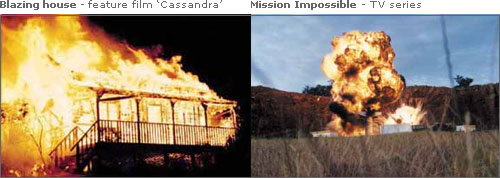 Blazing house - feature film 'Cassandra' & Mission Impossible - TV series